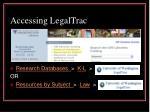 accessing legaltrac
