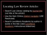 locating law review articles