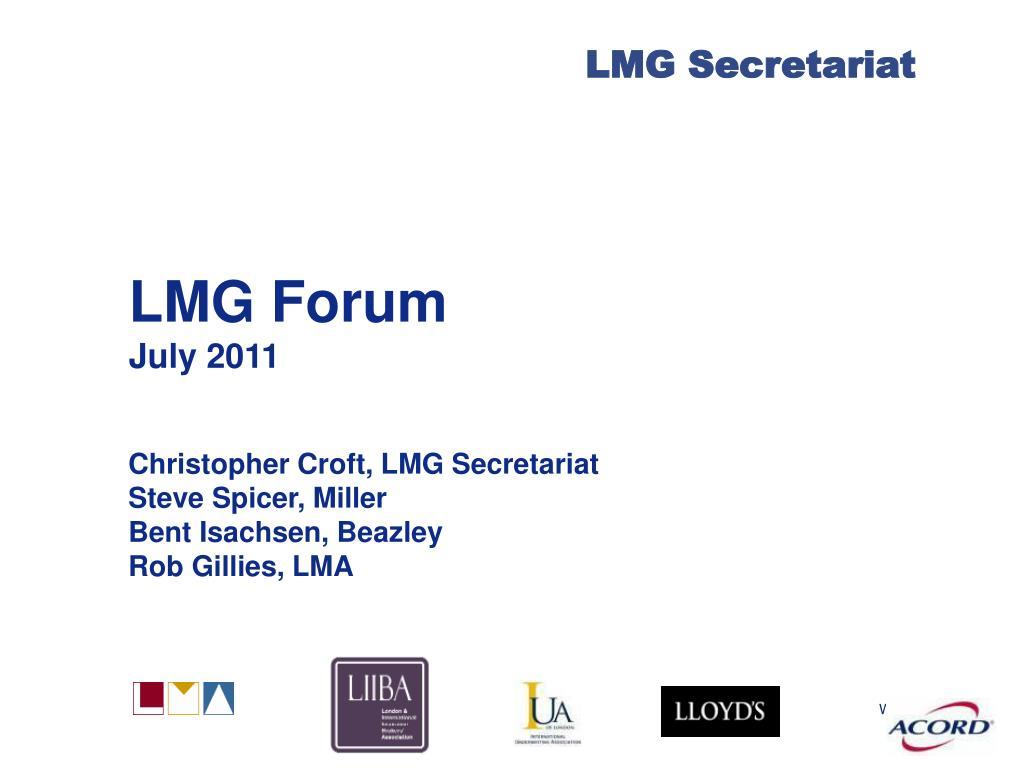 lmg forum july 2011 l.