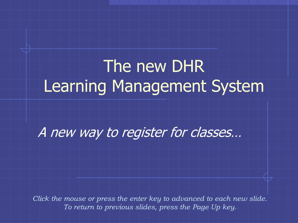the new dhr learning management system l.