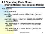 4 1 operating cash flows indirect method reconciliation method