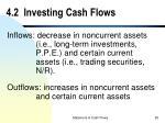 4 2 investing cash flows
