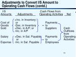 adjustments to convert i s amount to operating cash flows contd53