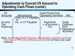 adjustments to convert i s amount to operating cash flows contd55