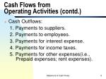 cash flows from operating activities contd