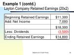 example 1 contd layton company retained earnings 20x2