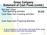 green company statement of cash flows contd60