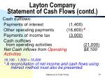 layton company statement of cash flows contd57