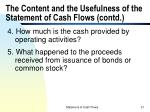 the content and the usefulness of the statement of cash flows contd