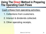 using the direct method in preparing the operating cash flows