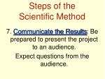 steps of the scientific method12