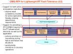 omg rfp for lightweight rt fault tolerance 2 2