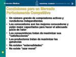 condiciones para un mercado perfectamente competitivo