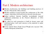 part i modern architecture