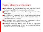part i modern architecture1
