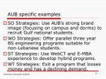 aub specific examples