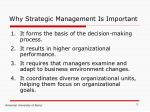 why strategic management is important