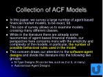 collection of acf models