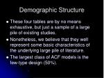 demographic structure
