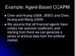 example agent based ccapm
