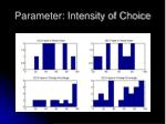 parameter intensity of choice