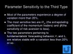 parameter sensitivity to the third type56