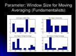parameter window size for moving averaging fundamentalists