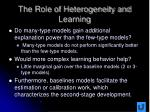the role of heterogeneity and learning