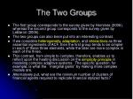 the two groups
