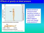 effects of gravity on blood pressure