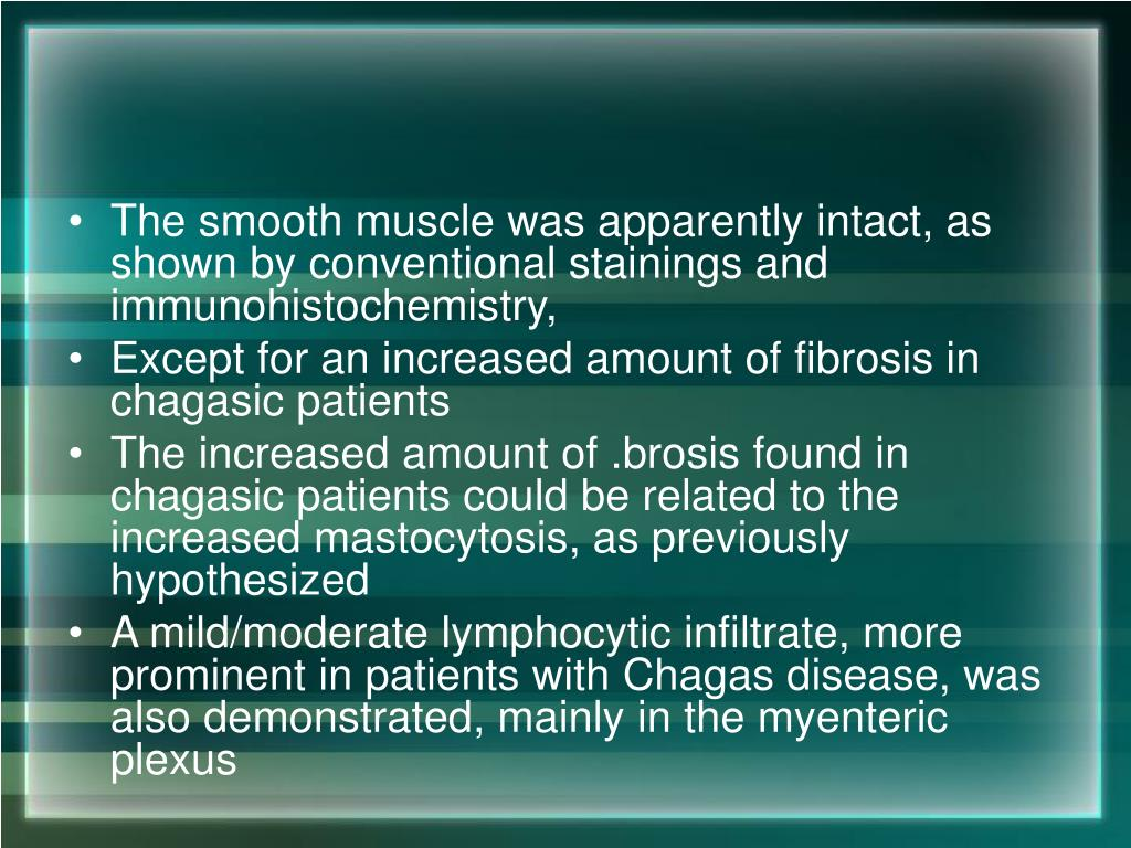 The smooth muscle was apparently intact, as shown by conventional stainings and immunohistochemistry,