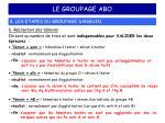 le groupage abo11