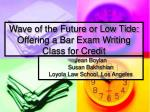 wave of the future or low tide offering a bar exam writing class for credit