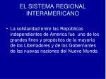 el sistema regional interamericano