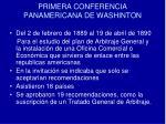 primera conferencia panamericana de washinton