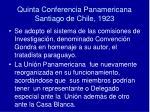 quinta conferencia panamericana santiago de chile 1923