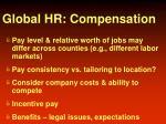 global hr compensation