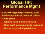 global hr performance mgmt