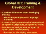 global hr training development