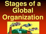 stages of a global organization