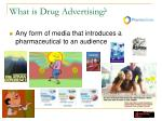 what is drug advertising
