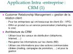 application intra entreprise crm 1