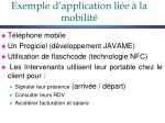 exemple d application li e la mobilit