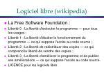 logiciel libre wikipedia