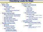 classifying loads on ships