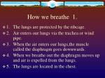 how we breathe 1