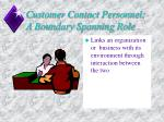 customer contact personnel a boundary spanning role