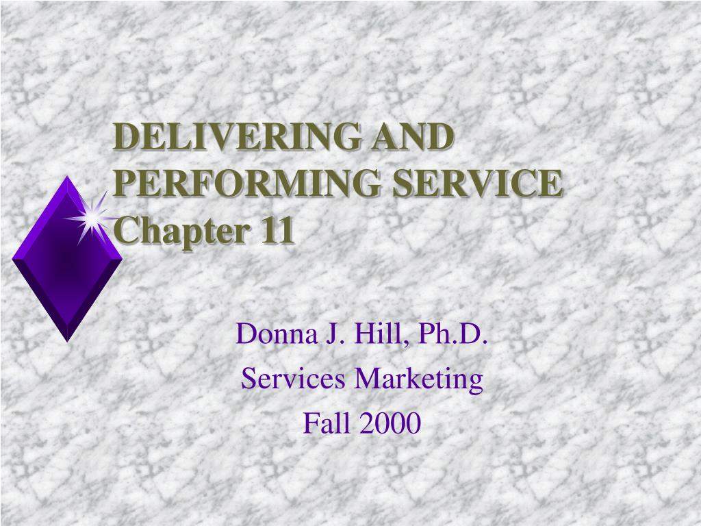 delivering and performing service chapter 11 l.