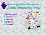 service quality dimensions heavily influenced by people