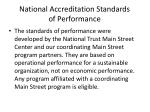 national accreditation standards of performance
